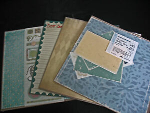 Yellow and more; Choose! Blue Creative Memories 12x12 Perfect Fit paper Red
