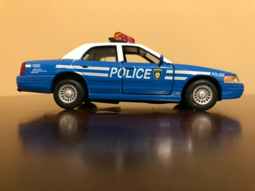 Kinsmart Ford Crown Victoria Police Interceptor Blue Toy Car Scale 1:42
