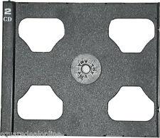 (5) CD2R80PVDG CD Trays Black Slimline Pivot Hole Double Standard 2CD Case Multi