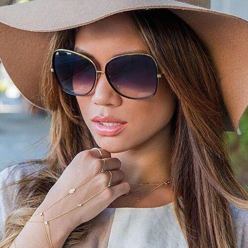 Femmes Large Rétro Vintage Carré Cat Eye Lunettes Fashion Shades Grandes Lunettes De Soleil