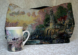 y Tote Faux Kinkade Sea Gregg Taspestry Leather regalos Lighthouse taza Thomas 7HqCAwS