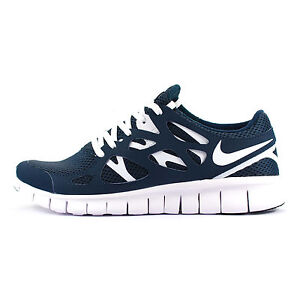 nike free run 2 blue white