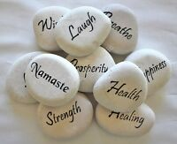 Engraved Carved River Stone Rock Words Choose Your Word