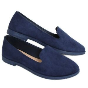 mocassins chaussures femme femmes marine cuir écologique 107426