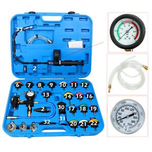 Cooling System Radiator Pressure Tester Kit w/Coolant Purge/Refill Adapter 28pcs