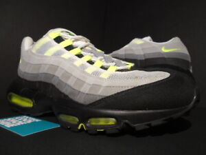 Details about 2010 NIKE AIR MAX 95 COOL GREY NEON YELLOW WHITE BLACK ATMOS 90 609048 072 13