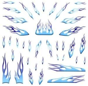 image is loading pinewood derby car blue flames decal
