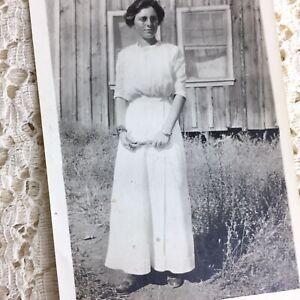 Antique Photo Young Woman Teenage Girl Mona Franklin 1915 Butte Creek California