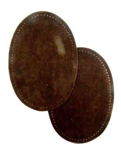 Dunkelbraun 13 x 11,5 cm zum Aufnähen  3-768 2 Lederflecken Echt Leder