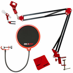 Studio Bundle - Microphone Stand, Pop Filter, and Boom Arm Stand By Deco Gear
