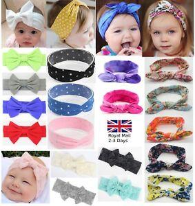 Baby Girls Bow Glitter Turban Polka Sparkling Headband Hair band Head Wrap Kids