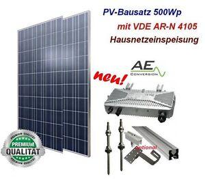 photovoltaikanlage mini pv anlage 500wp mit vde ar n4105 zulassung neu ebay. Black Bedroom Furniture Sets. Home Design Ideas