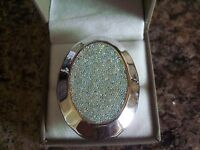 Qvc Sterling Silver Large Rainbow Ring Choice Of Size