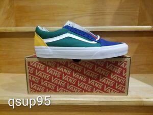 Vans-Old-Skool-Yacht-Club-Blue-Green-Yellow-Red-Color-Block-VN0A38G1R1Q-Sz-4-13