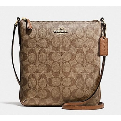 New Coach F58309 North South Signature Crossgrain Leather Crossbody Bag