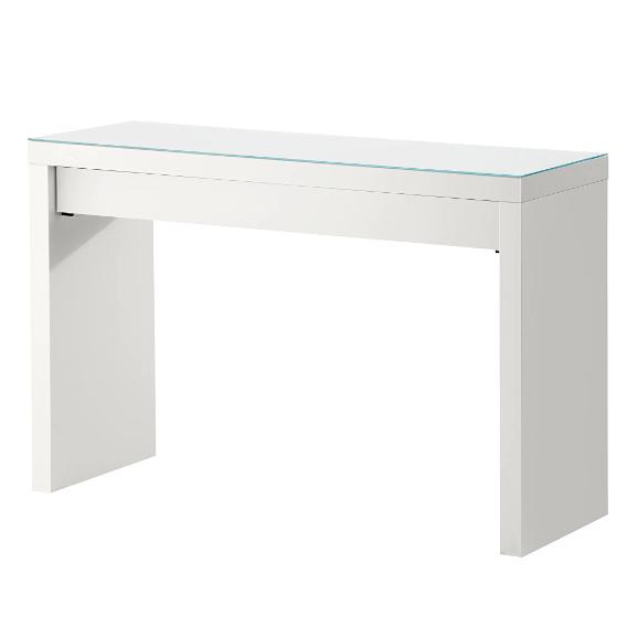 Schminktisch IKEA Malm 120x41cm mit Glasplatte   eBay