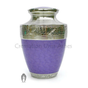 Hand-Engraved-Neck-Curved-in-Nickel-Enamelled-Purple-Urn-for-Cremation-Ashes