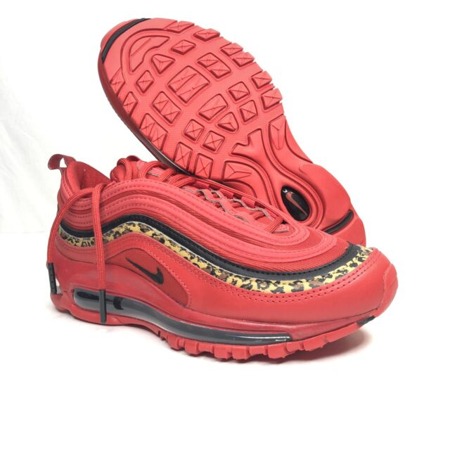 Nike Air Max 97 University Red Leopard Womens Trainers Bv6113 600