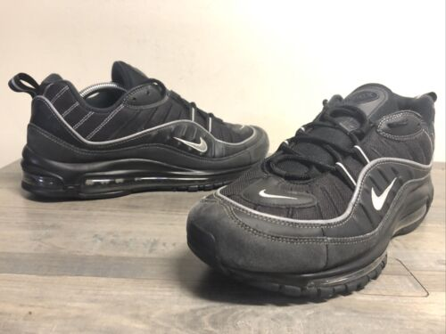 Nike Air Max 98 Black Metallic Silver 640744 013 M