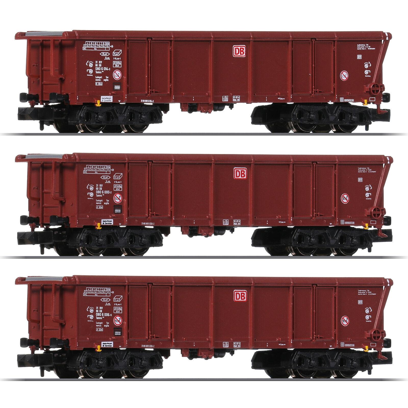 Fleischmann 829354 N Roll CARRELLO TETTO Tamns 886, DB AG 3er-set + + NUOVO & OVP + +