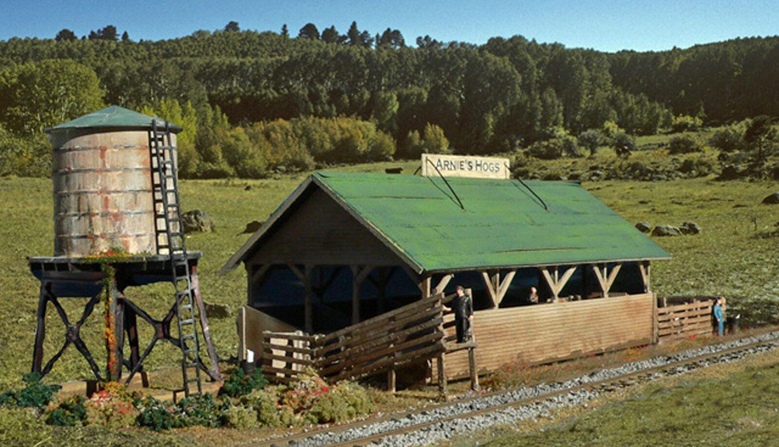 ARNIE'S HOGS HO Model Railroad Laser Structure Farm Building Unptd Kit ALP5809