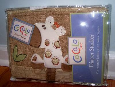 Cocalo Baby Sahara Nursery Diaper Stacker Giraffe Brown