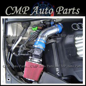 BLUE 1994-2001//94-01 AUDI A4 A6 CABRIOLET 2.8 2.8L V6 AIR INTAKE KIT