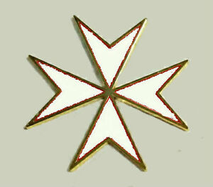 Medieval Malta Maltese White Cross Crusade Knight Battle Magnet Fridge Door Bar