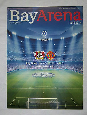 Aufstrebend Orig.prg Champions League 13/14 Bayer 04 Leverkusen - Manchester United ! Top Um Das KöRpergewicht Zu Reduzieren Und Das Leben Zu VerläNgern