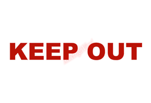 Keep Out Warning Notice Placard Sticker Vinyl Decal Window Sticker Car