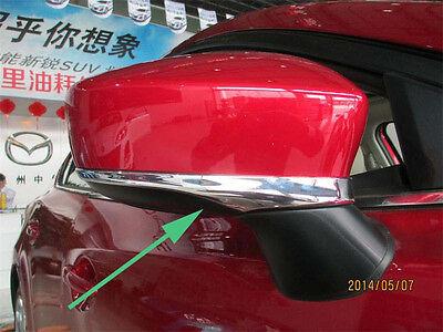 Chrome Side Mirror Cover trim for 2014-2016 Mazda 3 AXELA Molding Sedan 5 Door