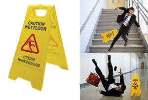 Segnale pericolo pavimento scivoloso bagnato cartello imprese ...