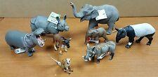 Schleich/Safari LTD African Animals Toy Lot (8) Elephant Hippo Rhino Warthog...