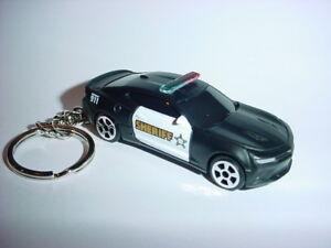 NEW-3D-CHEVROLET-CAMARO-SS-POLICE-CUSTOM-KEYCHAIN-keyring-key-911-cops-LAW-bling