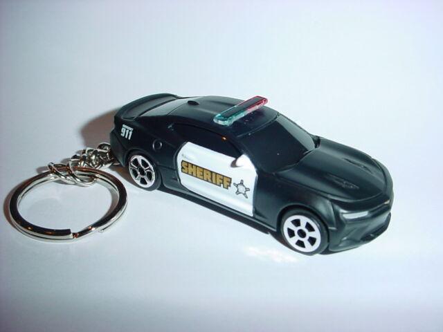 NEW 3D CHEVROLET CAMARO SS POLICE CUSTOM KEYCHAIN keyring key 911 cops LAW bling