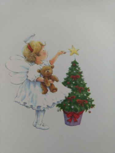 Merry Christmas to a Wonderful Mommy Mother Christmas Card with Envelope Girl