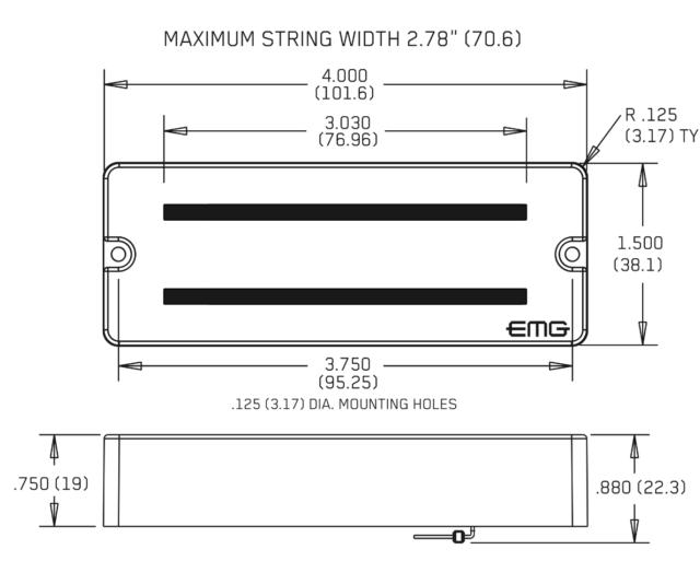 EMG 81-8 + 85-8 RED 8 STRING SOAPBAR ACTIVE SOLDERLESS PICKUP SET WIRING Blend Pot Wiring Diagram Emg Old on