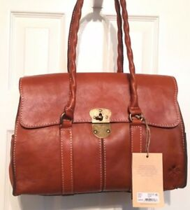 dc7d9a4a7 Image is loading Patricia-Nash-Vienna-Satchel-NWT-Brown-Beautiful-Italian-
