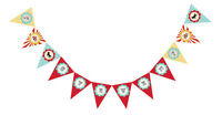 Circus Carnival Personalized Birthday Party Pennant Banner