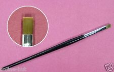 Nail Art Pinsel, Gel / Acrylpinsel, Flachpinsel,Gerade, Schwarz, Gr.4, Nr. NP-20