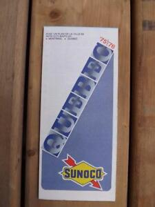 ROAD-MAP-QUEBEC-1975-1976-SUNOCO-GAS-SERVICE-STATION-ADVERTISING