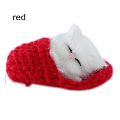 Cute Simulation Sounding Crouching Cat Plush Baby Toy Stuffed Animals Toy