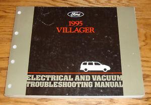 1995 mercury villager wiring diagram evtm manual 95 ebay 1995 Gmc Safari Wiring Diagram image is loading 1995 mercury villager wiring diagram evtm manual 95