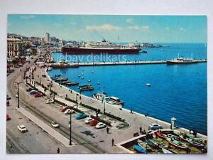 TRIESTE-rive-nave-VULCANIA-lloyd-molo-audace-ship-vecchia-cartolina
