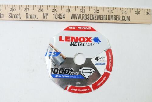 "Lenox 1972921 MetalMax Diamond Edge Cutoff Wheel 4-1//2/"" x .05 x 7//8/"" Pack of 5"