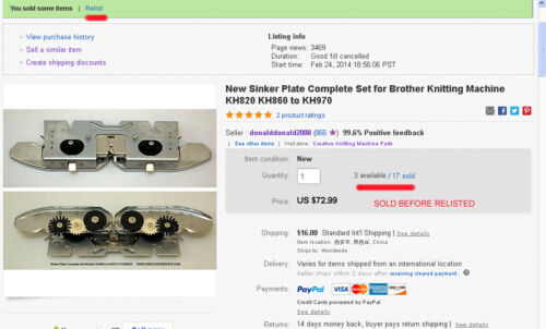 Nuevo Conjunto de placa de Platina For BROTHER KNITKING Artisan Creative KH820 KH860 890-970