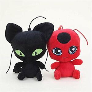 Miraculous Ladybug Adrien Cat Noir Marinette Ladybug Plagg Tikki Plush Doll Toys