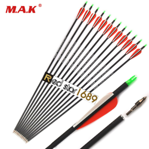 """US 6Pcs 28/"""" Spine 500 Carbon Arrow OD 7.8mm For Compound bow Hunting Sporting"""
