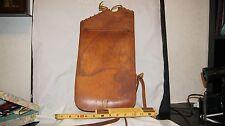 WWI U.S.Q.M.C. Quartermaster Corps Leather Saddle Bag Pommel Horse Tack Military