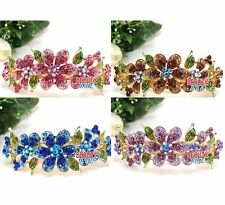 Hot Wholesale 4 pieces elegant rhinestone Flowers hair accessory Barrette clip B